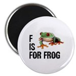 F Is For Frog Magnet