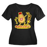 Mayota Women's Plus Size Scoop Neck Dark T-Shirt