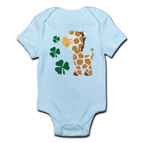 Irish Giraffe Shamrock Infant Bodysuit