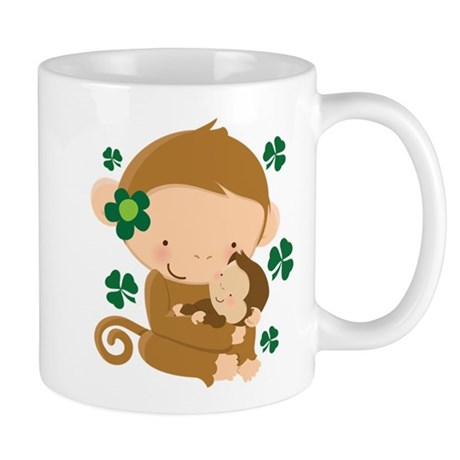 Irish Monkeys Shamrock Mug