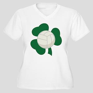 Irish Volleyball Shamrock Women's Plus Size V-Neck