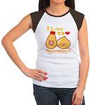 Mayo love Women's Cap Sleeve T-Shirt