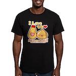 Mayo love Men's Fitted T-Shirt (dark)