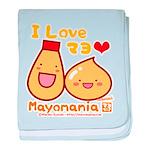 Mayo love baby blanket
