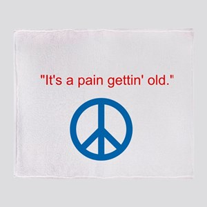 Gettin Old Throw Blanket