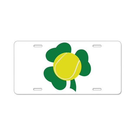 Irish Tennis Shamrock Aluminum License Plate