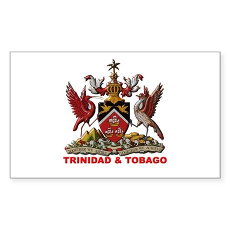 Trinidad Coat of Arms Rectangle Sticker