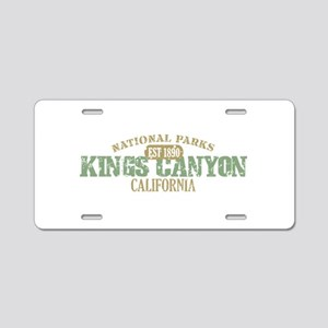 Kings Canyon National Park CA Aluminum License Pla