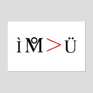 I M > U Mini Poster Print