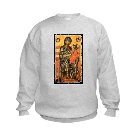 Byzantine Madonna Kids Sweatshirt