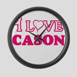 I Love Cason Large Wall Clock