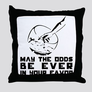 It's Time for the Drawing. Throw Pillow