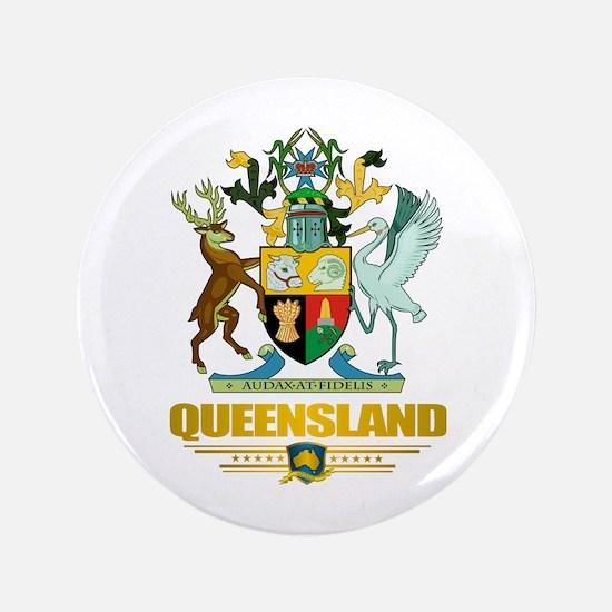 """""""Queensland COA"""" 3.5"""" Button"""