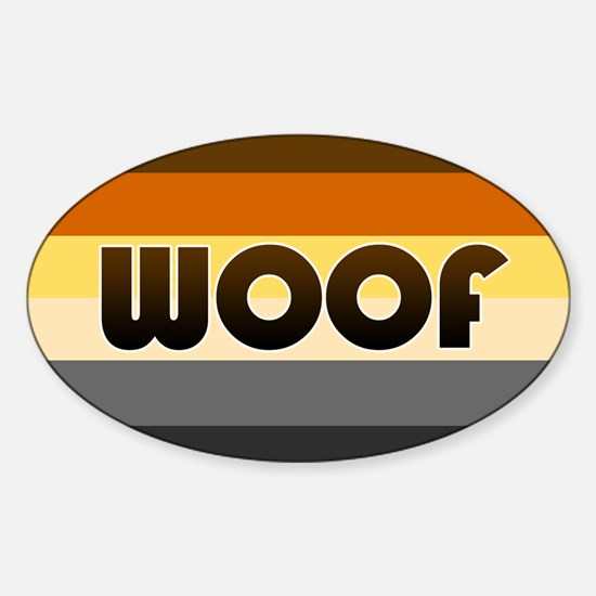 Bear 'Woof' Sticker (Oval)