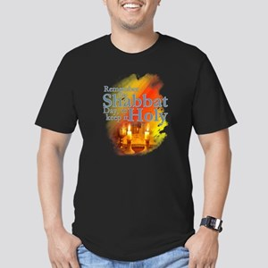 Shabbat Day: Men's Fitted T-Shirt (dark)