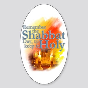 Shabbat Day: Sticker (Oval)