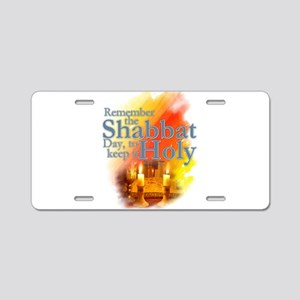Shabbat Day: Aluminum License Plate