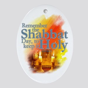 Shabbat Day: Ornament (Oval)