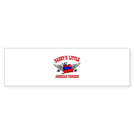 Daddy's Little Armenian Princess Sticker (Bumper)