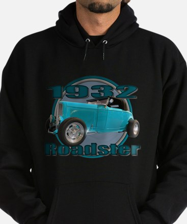 1932 Ford Roadster Sky Blue Hoodie (dark)