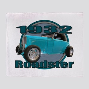 1932 Ford Roadster Sky Blue Throw Blanket