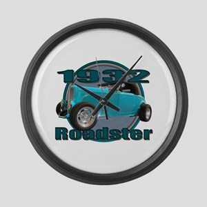 1932 Ford Roadster Sky Blue Large Wall Clock