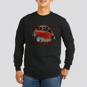 1932 Red Ford Roadster Long Sleeve Dark T-Shirt