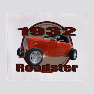 1932 Red Ford Roadster Throw Blanket