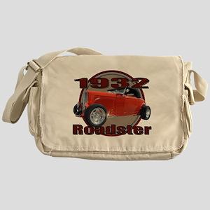 1932 Red Ford Roadster Messenger Bag