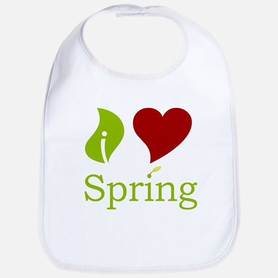 I Heart Spring (Red)  Bib