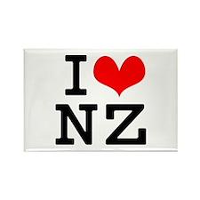 I Love NZ Rectangle Magnet