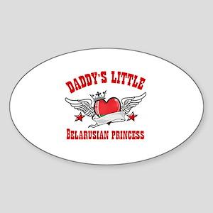 Daddy's Little Belarusian Princess Sticker (Oval)