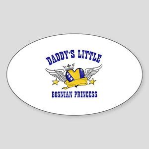 Daddy's Little Bosnian Princess Sticker (Oval)