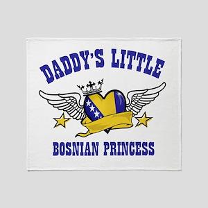 Daddy's Little Bosnian Princess Throw Blanket