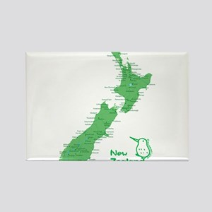 New Zealand Map Rectangle Magnet