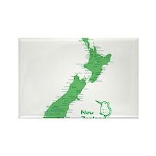 New Zealand Map Rectangle Magnet