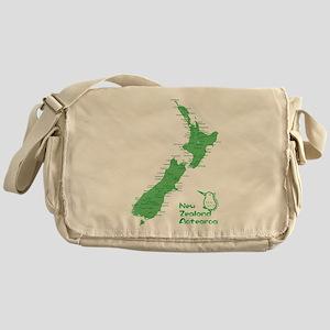 New Zealand Map Messenger Bag