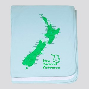 New Zealand Map baby blanket