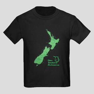 New Zealand Map Kids Dark T-Shirt