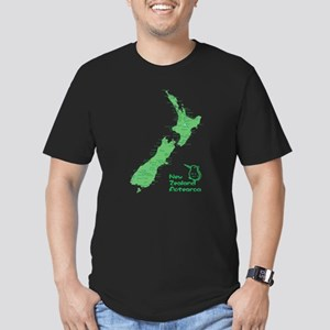 New Zealand Map Men's Fitted T-Shirt (dark)
