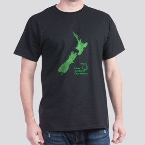 New Zealand Map Dark T-Shirt