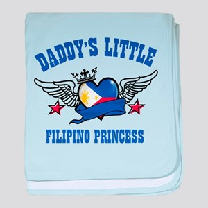 Daddy's Little Filipino Princess baby blanket