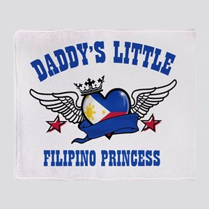 Daddy's Little Filipino Princess Throw Blanket