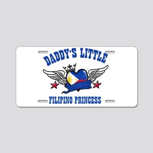Daddy's Little Filipino Princess Aluminum License