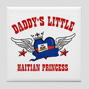 Daddy's Little Haitian Princess Tile Coaster