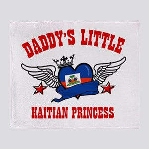 Daddy's Little Haitian Princess Throw Blanket