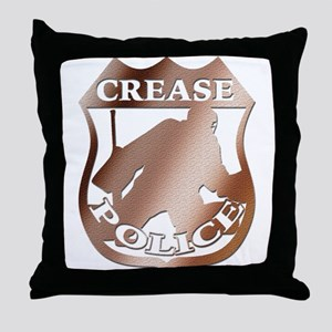 Hockey Goalie Crease Police Throw Pillow