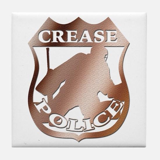 Hockey Goalie Crease Police Tile Coaster