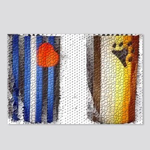 BEAR & LEATHER PRIDE FLAGS Postcards (Package of 8