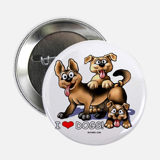 "I Love Dogs 2.25"" Button"